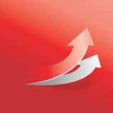 röd pil Arkivfoton