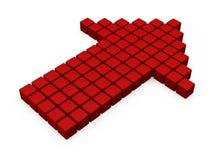 Röd pil från kuber Royaltyfria Bilder