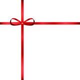 Röd pilbåge för att dekorera gåvor vektor illustrationer