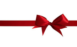 Röd pilbåge för jul Royaltyfri Bild