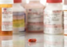Röd pill Royaltyfria Bilder