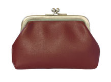 röd plånbok Arkivfoto