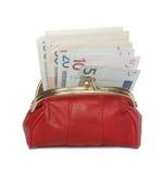 Röd plånbok. Fotografering för Bildbyråer