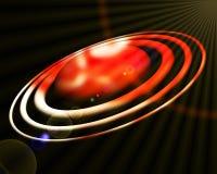 Röd planet, omlopp och kosmosutrymme stock illustrationer