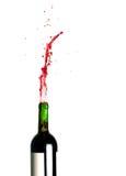 röd plaska wine Royaltyfri Fotografi