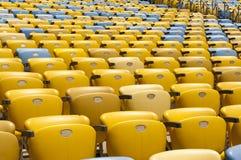 röd platsstadion för blå design dig Royaltyfria Bilder