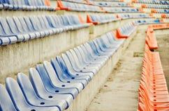 röd platsstadion för blå design dig Royaltyfria Foton