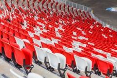 röd platsstadion för blå design dig Arkivfoton