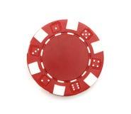 Röd pokerchip arkivfoto