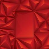 Röd polygonal design. Royaltyfria Bilder