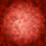 Röd polygonal illustration, som består av trianglar Royaltyfria Foton