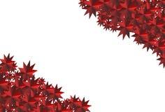 Röd Polygonal mosaisk bakgrund Arkivbild