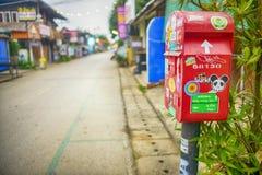 Röd postbox Royaltyfria Foton