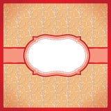 Röd prickig dekorativ ram Royaltyfri Fotografi