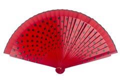 Röd prickig fan Arkivbilder