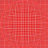 Röd pricksfär Arkivbilder
