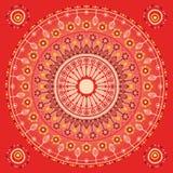 Röd prydnad Arkivbild