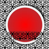 Röd punkt med modellen Arkivfoton