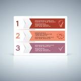 Röd purpurfärgad information-diagram flikdesign med nummer Arkivfoto