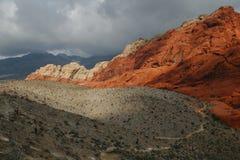 Röd röd kanjon 1 Nevada Arkivbilder