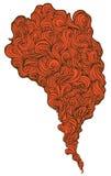 röd rök stock illustrationer