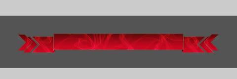 Röd rökt titelrad Arkivbild