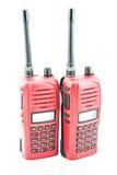 Röd radiocommunication Arkivbild