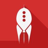 Röd raket på start Arkivfoton