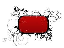 Röd ram för din text Arkivfoto