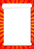 Röd ram för hälsningar, illustration Arkivfoto