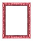 Röd ram för tappning som isoleras på vit bakgrund, snabb bana Fotografering för Bildbyråer