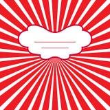 Röd ram för vektor Arkivfoto