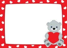Röd ram- och grå färgnalle som är horisontal Royaltyfria Bilder