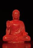 Röd reflekterad Buddha Royaltyfri Fotografi
