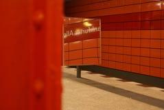 röd reflexion Fotografering för Bildbyråer