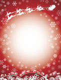 röd rensanta sleigh Royaltyfri Fotografi