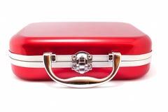 röd resväska royaltyfria bilder