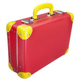 röd resväska Fotografering för Bildbyråer