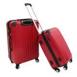 Röd resväska arkivfoto