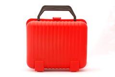 röd resväska Arkivfoton