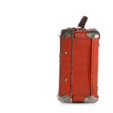 Röd resväska för gammal stil Royaltyfri Fotografi