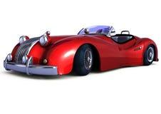 Röd retro bil Arkivfoton
