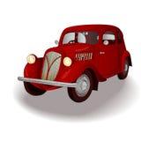 Röd retro bil Royaltyfri Fotografi