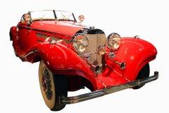 Röd retro cabriolet Royaltyfri Foto