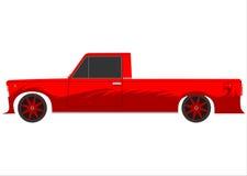 Röd retro lowrider. stock illustrationer