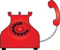 röd retro telefon Royaltyfria Foton