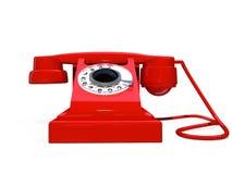 röd retro telefon royaltyfri illustrationer