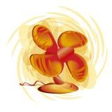 Röd retro ventilator Royaltyfri Fotografi