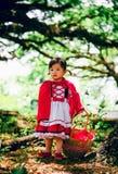 röd ridning för huv Fotografering för Bildbyråer