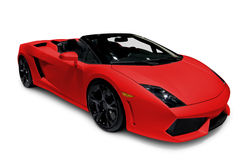 röd roadster arkivfoton